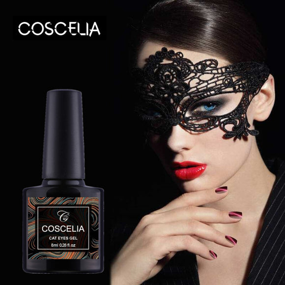 Coscelia 8 ml Magnet Paint Gel Polish Cat Eye's Series 10 Colors Available Varnish Top