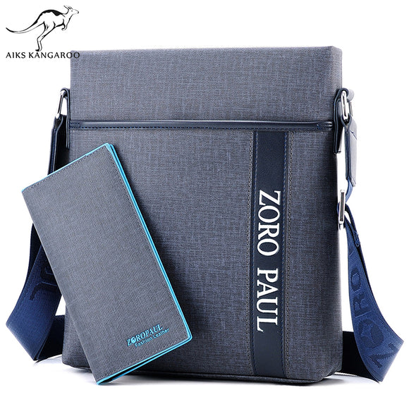 2018 Men Brand Leather Shoulder Bag and Purse Male Casual Business Satchel Messenger
