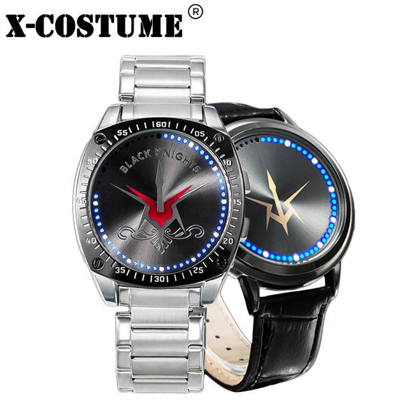 X-COSTUME CODE GEASS Lelouch of the Rebellion Cosplay Props Fashion Watch LED Touch Screen Waterproof Anime Watches Best Gift