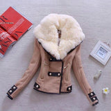 1PC Winter Women Coat Thicken Warm Turn Down Collar Women Jacket Coat Fashion New Jackets Double-Breasted Wool Blend Outwear