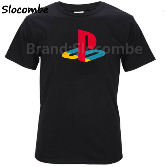 Playstation Sony Playstation Logo Gamer Licensed Adult T-Shirt XS-XXL men's top tees man cotton t shirt summer fashion