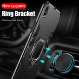 ZNP Luxury Armor Phone Case With Holder Full Cover For iPhone XR XS Max X Shockproof Shell for iPhone XS X 10 XR Protectio Cases