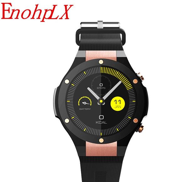 EnohpLX H2  GPS Smart Watch IOS With App Download Heart Rate Tracker WIFI SIM 5.0M HD Camera Android 5.1 Smartwatch Pk Kw99