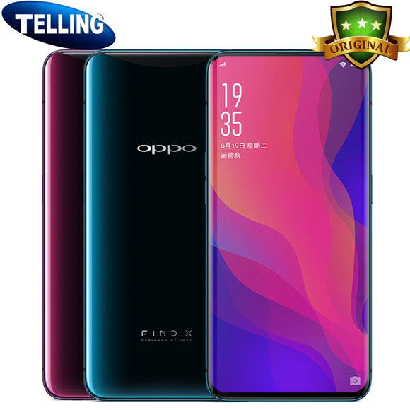 Original OPPO Find X Smartphone Snapdragon 845 Octa Core 8+128G Dual Curvy Face Recognize Suppressible 3D Camera Global Network