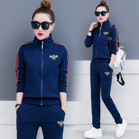 New Tracksuit Women 2 Piece Set Top And Pants Sportwear Plus Size 3Xl Causal Clothing Women Zipper Hoodies Sweatshirt Sweat Suit