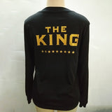 Couple Sports Hoodies King Queen Letter Printed Sweatshirt Woman Girlfriend His And Her Sport Clothing Exercise Tranning Sweater