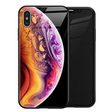 TOMKAS Luxury Space Cover Case for iPhone X XS MAX XR XS Glass Silicone Phone Case for iPhone 7 8 Plus Cases for iPhone 6 S 6s