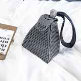 TOYOOSKY 2018 Summer women clutch diamond leather bags Triangular evening bag ladies purse party bags high quality Mobile Phone