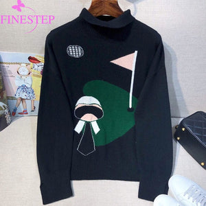 Women's Computer Knitted Sweater 2019 Autumn Winter Casual Turtleneck Sweaters Women Pullovers Cashmere Sweaters Women
