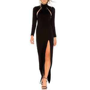 Adyce 2018 New Autumn Bandage Dress Women Vestidos Elegant Celebrity Evening Party Dress Sexy Long Sleeve Black Maxi Club Dress