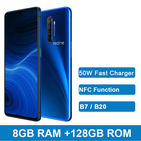 realme X2 Pro X 2 6.5'' Moblie Phone Snapdragon 855 Plus 64MP Quad Camera NFC Cellphone 50W Fast Charger