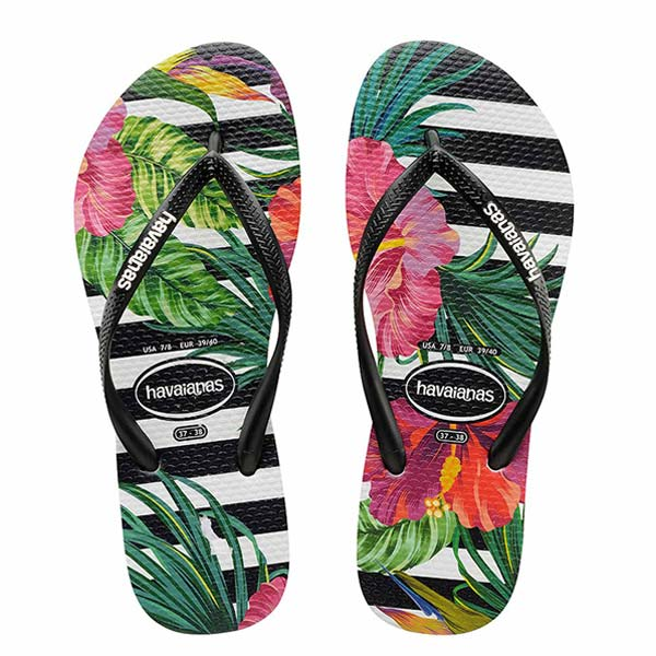 SLIM FLORAL TROPICAL (STRIPES)