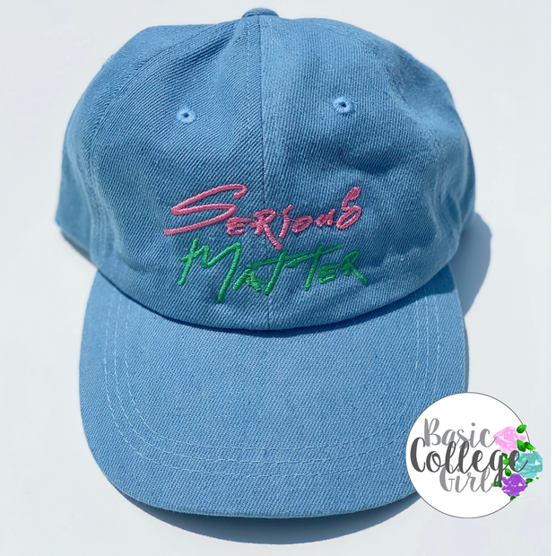 Limited Denim Serious Matter Hat