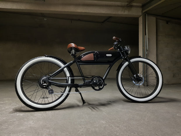 2019 Greaser SS  Vintage Cafe  Racer 52v Electric Bicycle - Enhanced Cycles and Boards
