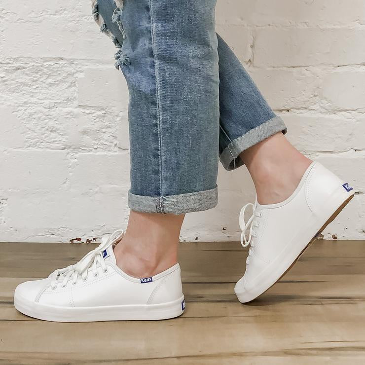 Keds Kickstart Retro Leather White Sneakers