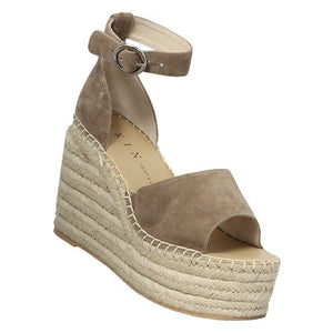 Skin Georgia Khaki Suede Wedge