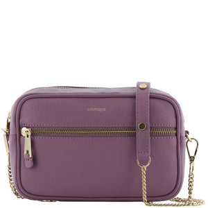 Monique Sage Leather Camera Crossbody Bag Rose LS64684-ROS