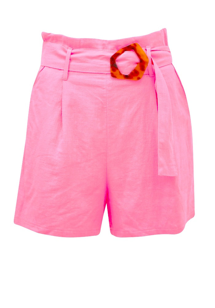 Sunny Girl Pink Tortoise Shell Shorts SG160352A