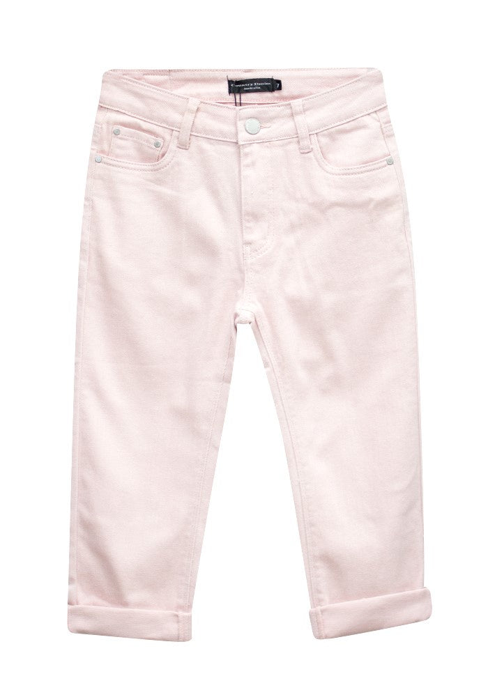 Country Denim Pink 3/4 High Rise Jeans CGJ1173