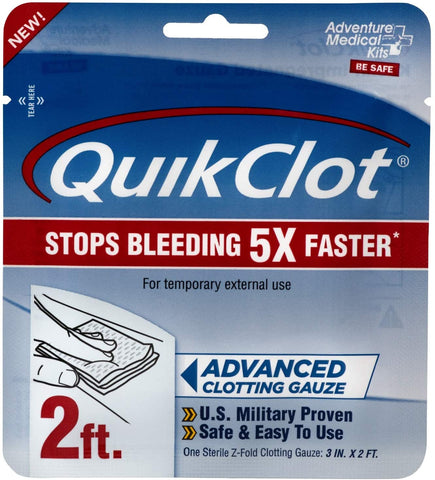 Adventure Medical Kit QuikClot Gauze 3 inch x 2 foot