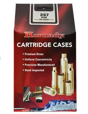 Hornady 8740 Unprimed Brass Handgun Cartridge Cases .357 Mag 200/ct
