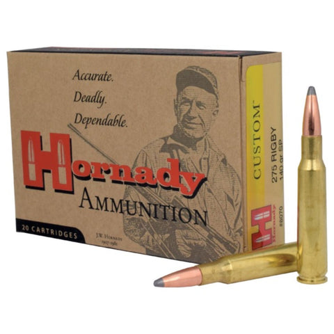 Hornady .275 Rigby 140 Grain SP-20 Count