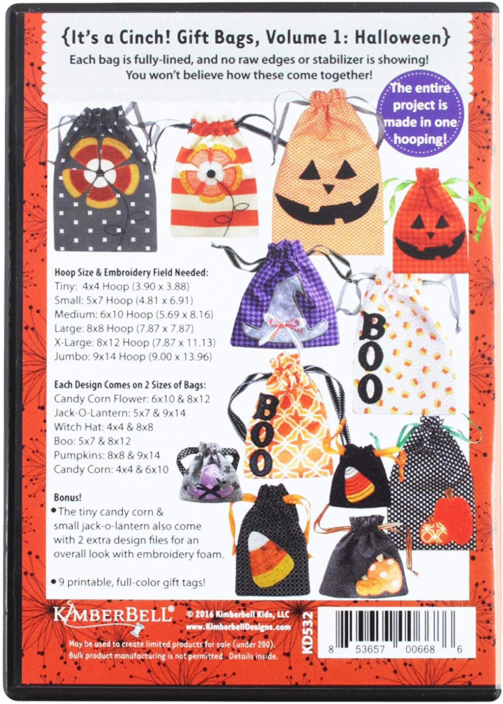 Kimberbell Halloween embroidery cd