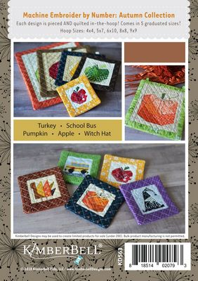 Kimberbell Machine Embroider by Number - Autumn