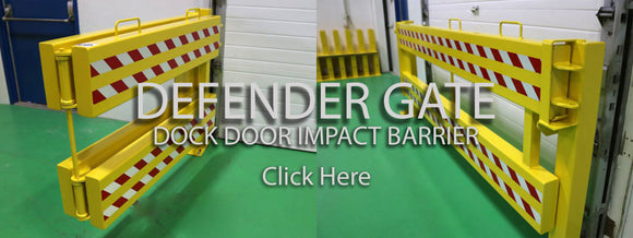 Defender Gate Loading Dock Impact Barrier Stop Forklift from going off dock crash