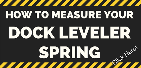 How to measure a dock leveler spring