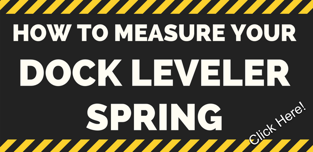 How to measure a loading dock leveler plate spring