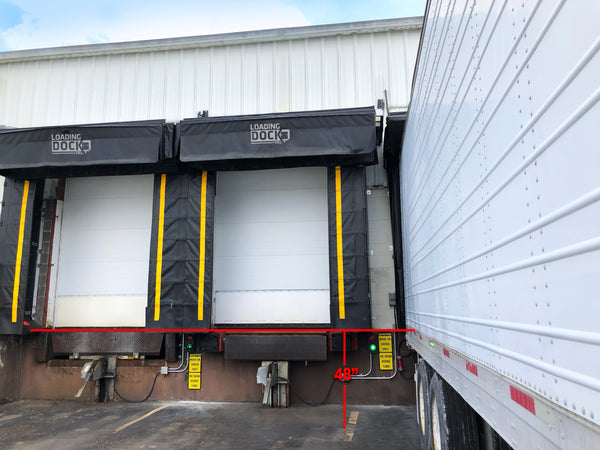 Standard Loading Dock Height for Dock Leveler Warehouse Semi Trailer