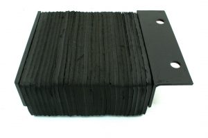 "Part 410-14-1F 10"" W X 10"" H X 4.5"" (Rubber Dim.) Laminated Dock Bumper (Single Flange)"