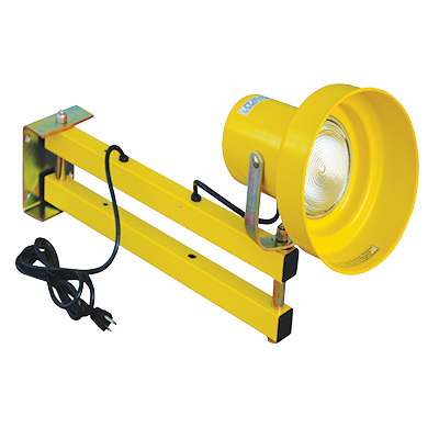 LL24 Loading Lights are constructed with durable steel arm to provide additional lighting in difficult to light dock areas.<br>