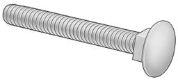 "58022 3/8""-16 x 1"" Carriage Bolt Grade 5 ZP Rite Hite"