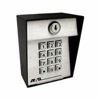 26-500L Industrial Digital Keyless Entry Exterior Surface Mount Keypad with 500 Codes, Metal Keys, Light and Latch Code, Reprogrammable, Voltage: 12-24VAC/DC, H=5-1/2