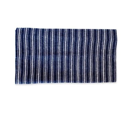 Caravan Linen Boat Stripe Indigo/White Tea Towel - Lothantique USA