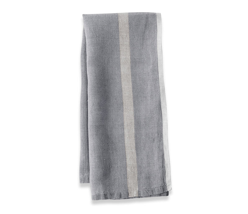 Caravan Laundered Linen Grey/Natural Tea Towel