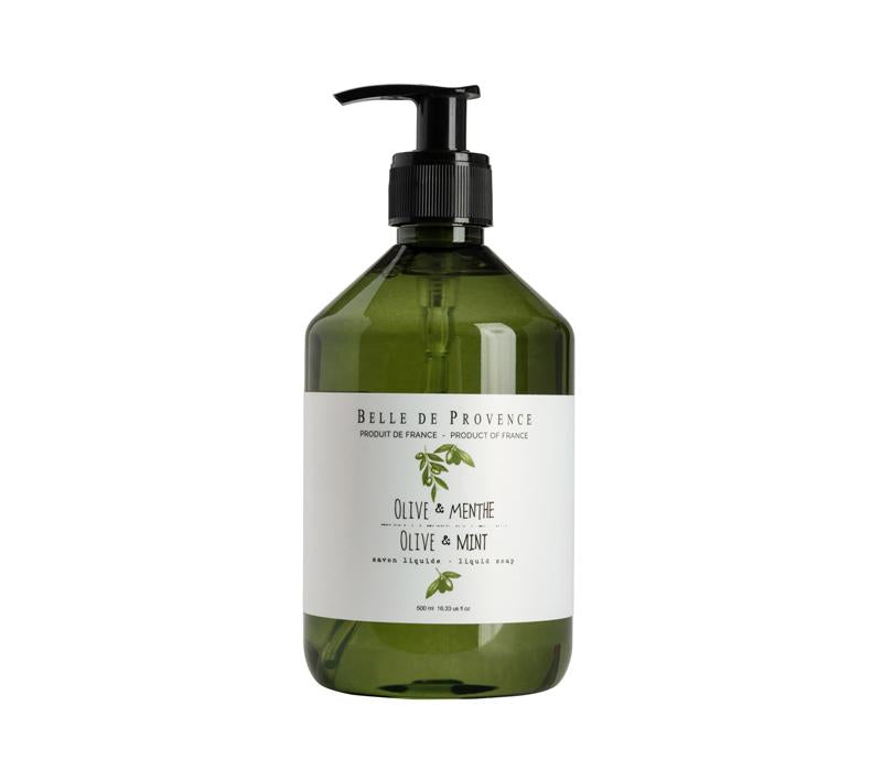 Belle de Provence Olive & Mint 500mL Liquid Soap - Lothantique USA