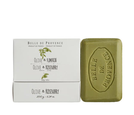 Belle de Provence Olive & Rosemary 200g Soap- NEW LOOK!