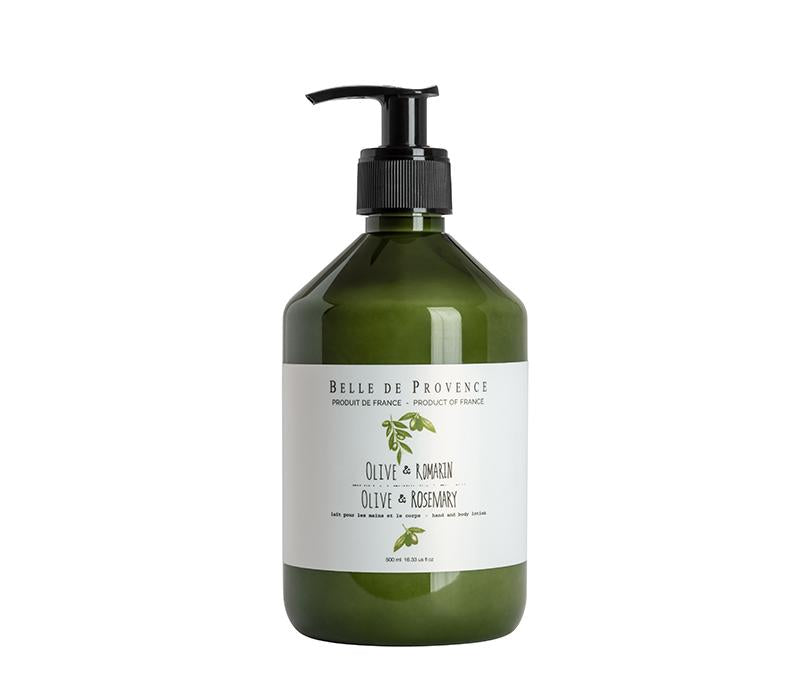 Belle de Provence Olive & Rosemary 500mL Hand and Body Lotion - Lothantique USA