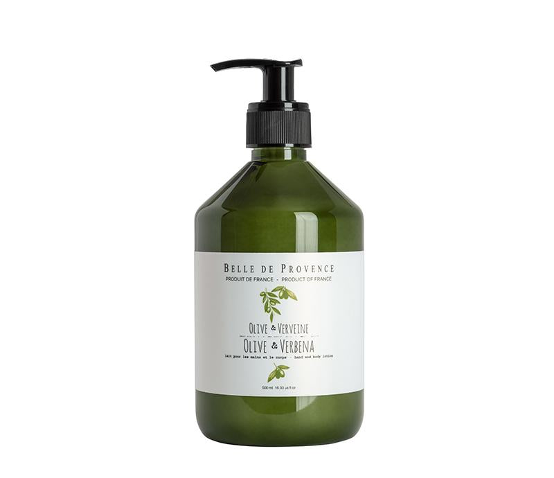 Belle de Provence Olive & Verbena 500mL Hand and Body Lotion