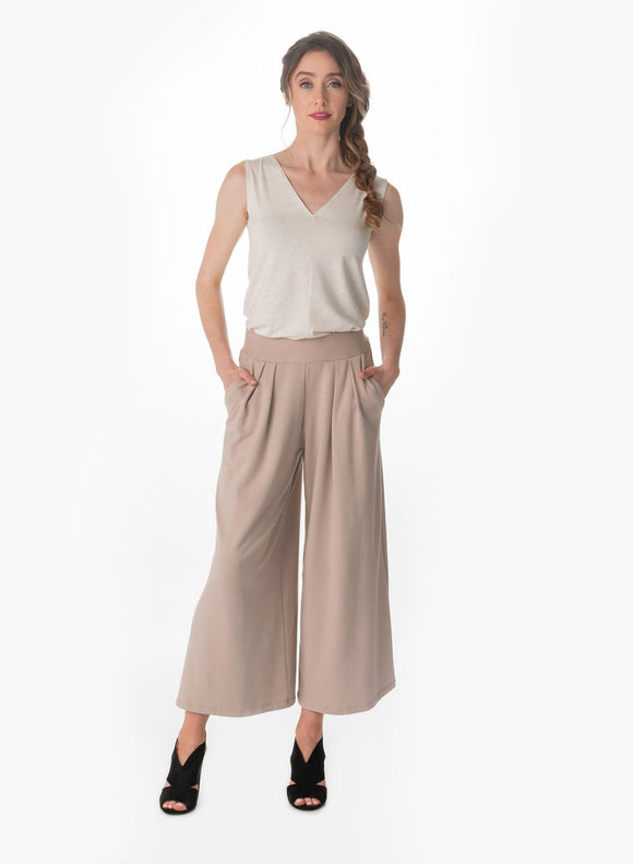 Duffield Design Coco Cream Gaucho Pant