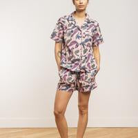 LatteLove Woven Cotten Short Sleeve and Short PJ Set