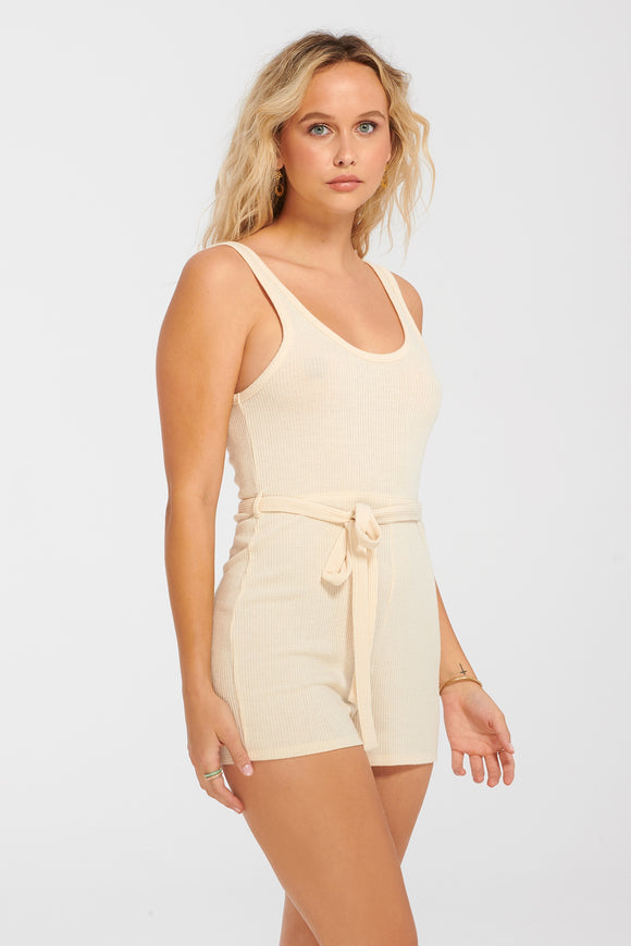 Everyday Sunday Oatmeal Cover Up Jumpsuit