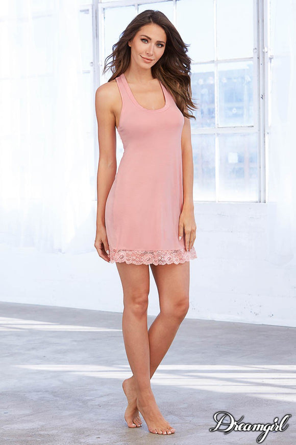 Dreamgirl  Vintage Rose Jersey Sleep Chemise