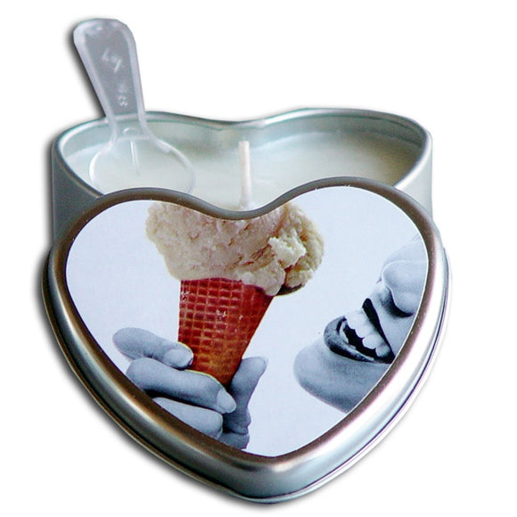 Earthly Body Heart Tin Edible Massage Candle
