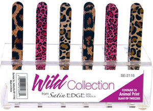 Satin Edge Wild Collection Animal Print Tweezer