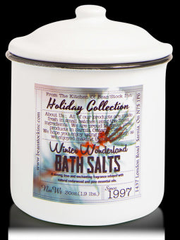 Bean Stock Inc. Mason Holiday Enamelware Bath Salts