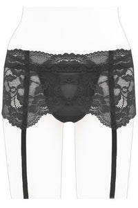 Youmita Lace with Bows Garter Belt